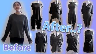 18+ ways to transform a long sleeve T-shirt | Morph-slash method