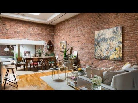 Tour Loft Apartment in New York Brick Exposed Walls YouTube