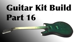 The Guitar Kit Build From Guitar Fetish Part 16 | Painting the neck, back, sides, and burst