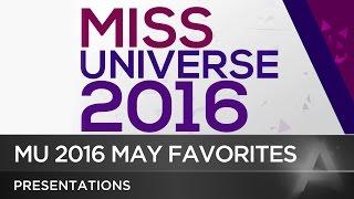 Miss Universe 2016 May Predictions