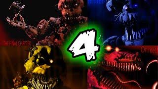 FNAF 4 ALL NIGHTMARE ANIMATRONICS    Five Nights at Freddy's 4 ALL Nightmare Animatronics