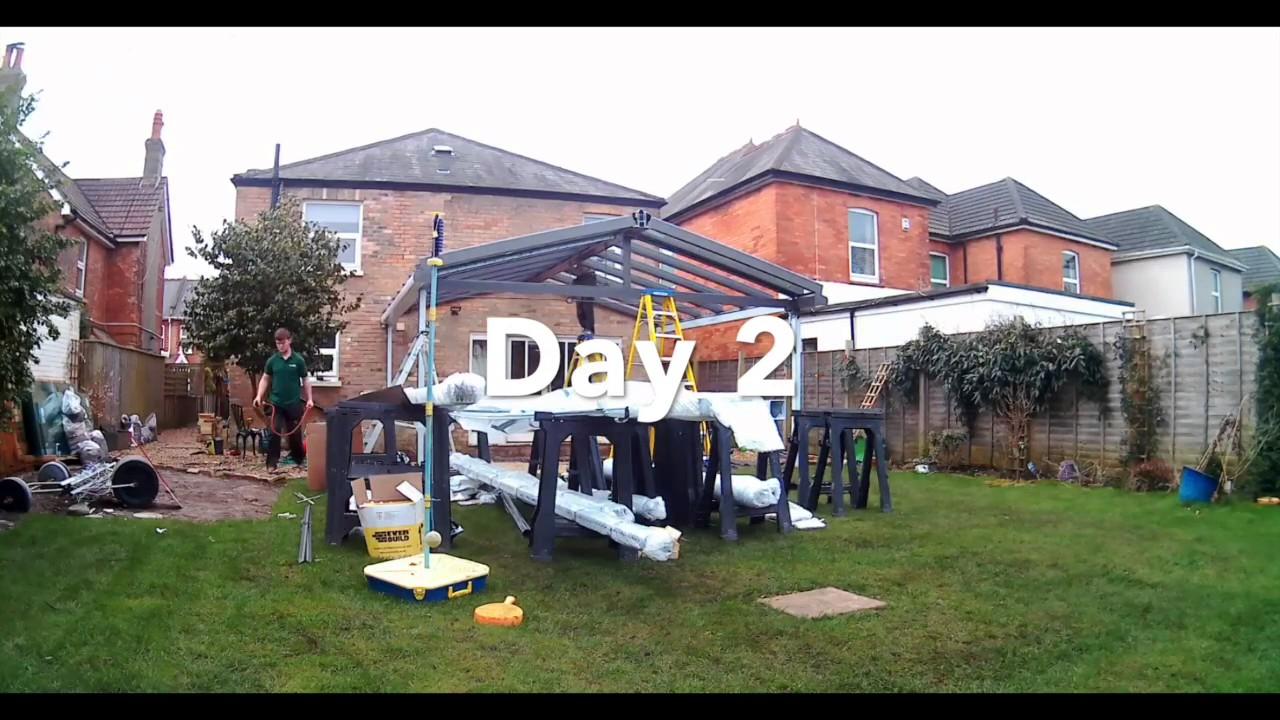 crocodile verandas install a winter garden or glass veranda youtube