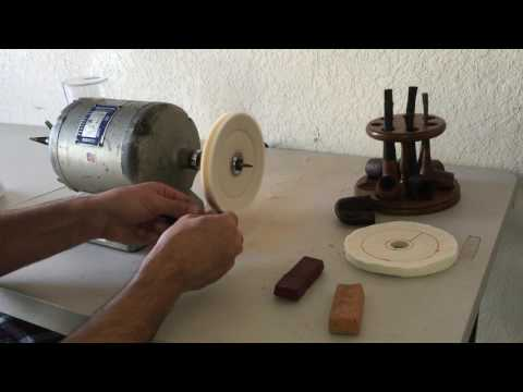 Baldor 353T Estate Pipe Restoration Series How To Clean Tobacco Pipe Buffing Stem - Part 4