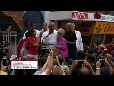 Mayor Bowser Joins Ben's Chili Bowl to Reveal New Mural, 6/21/17