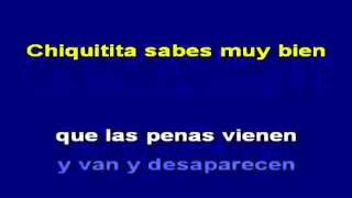 KARAOKE Chiquitita  ABBA Espa ol