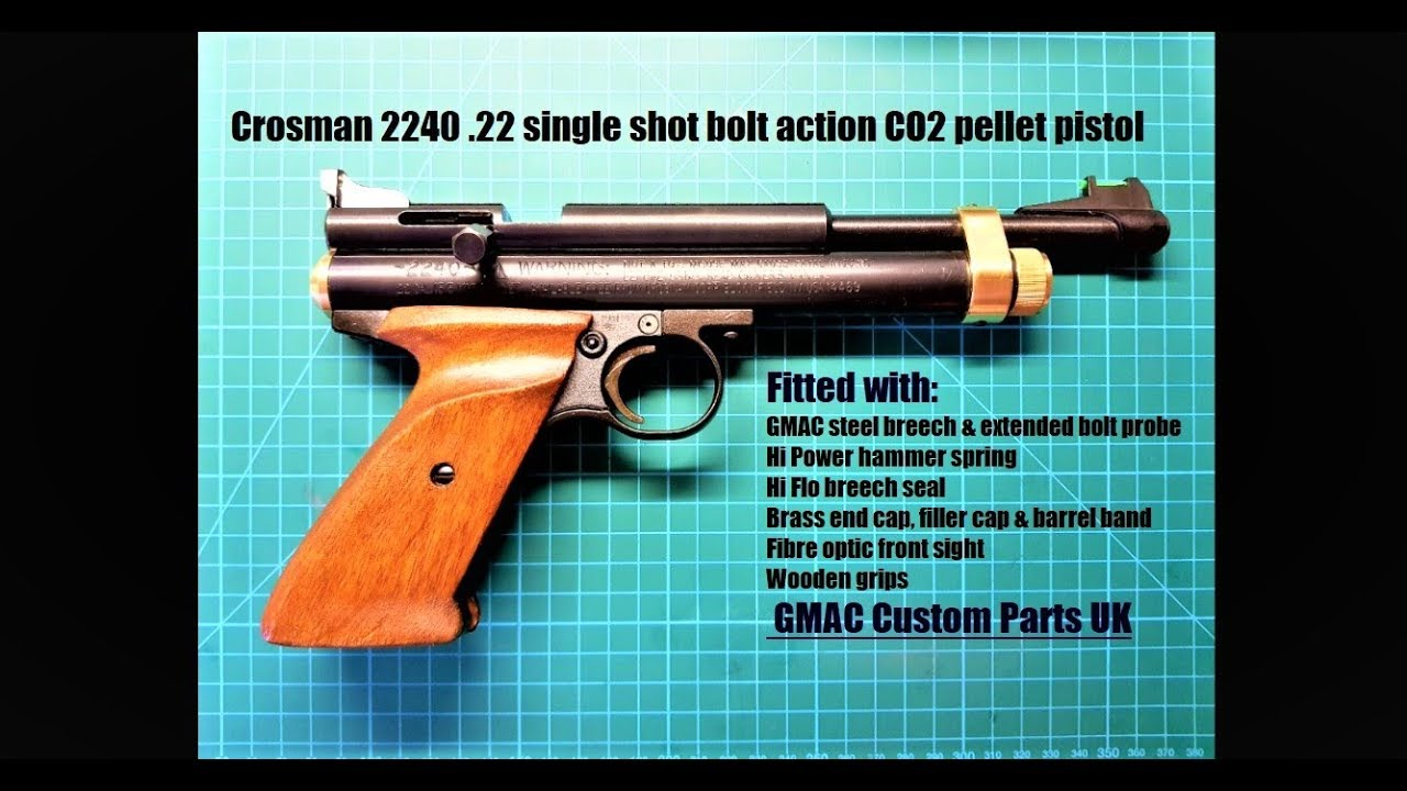 Crosman 2240  22 single shot bolt action CO2 pellet pistol