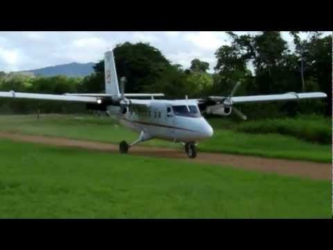 DHC6 and C208 Landing and taking offs in the bush