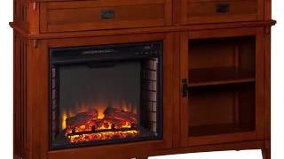 FE9688: Manchester Electric Fireplace Console - Brown Mahogany