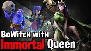 Crazy BoWitch With Immortal Queen Attack | Destroy Any th11 War Bases Clash Of Clans