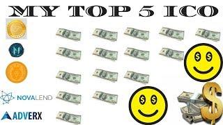 MY TOP 5 ICO LENDING PLATFORM : ADVERX | FINE COIN | MONETIZE COIN |  NOVALEND COIN | CHRYSOS COIN