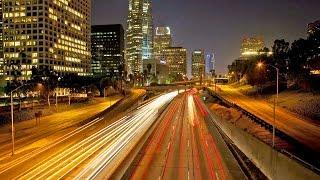 Los Angeles Traffic Time Lapse, California, LA Rush Hour Street Videos