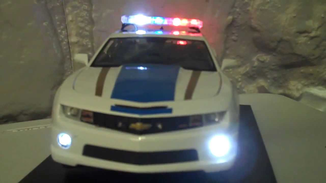 Chevrolet Camaro Ss >> 1/18 Scale Maisto Chevrolet Camaro RS SS 2010 Diecast Police Flashing LED Lightbar and Siren ...