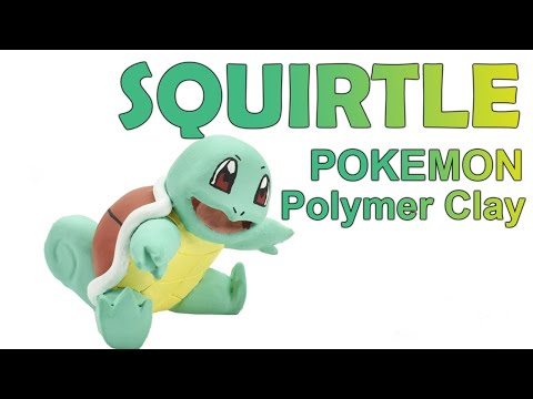 Sculpt Squirtle from Pokemon - (Clay Art) - (Polymer Clay Tutorial)