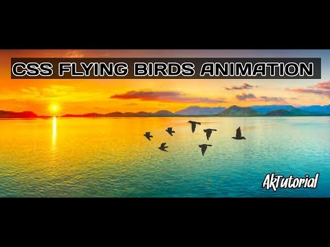 Birds Flying Animation Using CSS & HTML - Ak Tutorial thumbnail