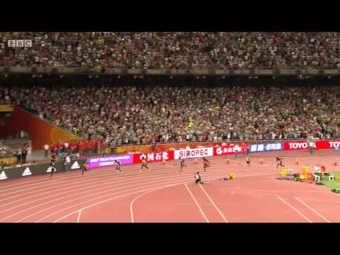 Usain Bolt vs Justin Gatlin stride frequency and stride length Analysis by Michael Johnson