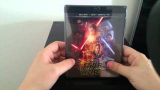 Star Wars The force awakens Bluray Unboxing
