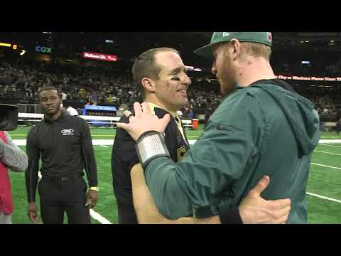 Follow Drew Brees on field after Saints win over Eagles