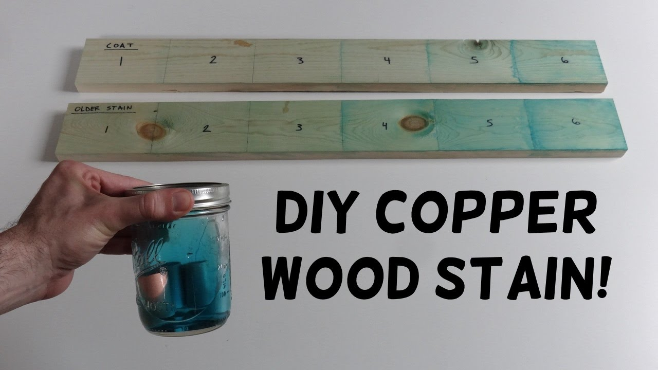 How to Make Copper Wood Stain!