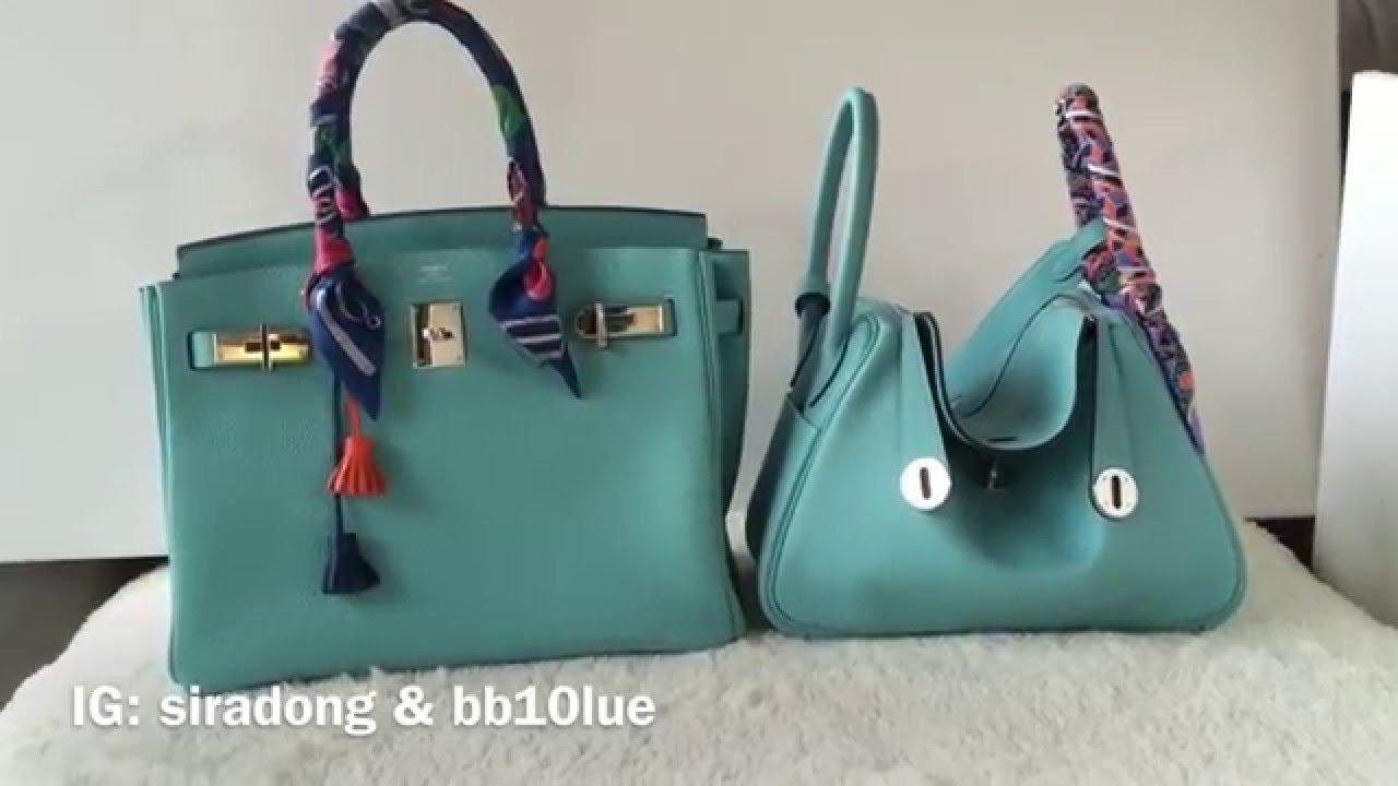 b35f861a1bf9 Mini review  Hermes bleu atoll (Birkin30   Lindy26) - YouTube