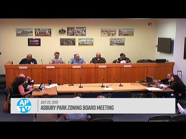 Asbury Park Zoning Board Meeting - July 23, 2019