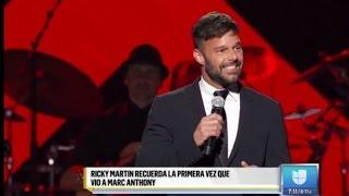 Ricky Martin con la voz quebrada hizo llorar a Marc Anthony