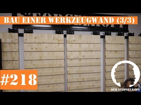 Der Stöpselkopf #218 Aufbau einer universalen & freibeweglichen French Cleat Werkzeug Wand (3/3)