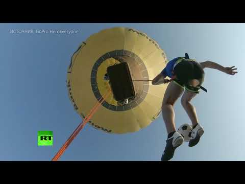 Фристайл на высоте: экстремалы чеканят мяч в небе над Альпами