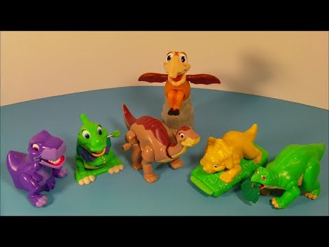 1997 THE LAND BEFORE TIME COLLECTION SET OF 6 BURGER KING KID'S MEAL TOY'S VIDEO REVIEW