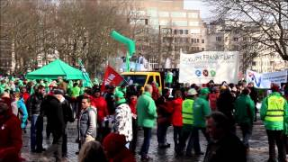 Brussels, Belgium - Protest against EU