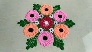 Easy rangoli design with bangles