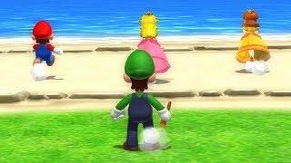 Mario Party 9 - Luigi vs Team Mario + Peach + Daisy| Cartoons Mee
