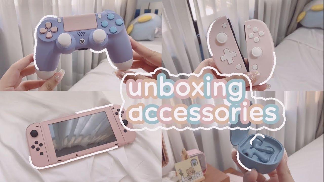 ✨ an asmr-ish gaming accessories pr haul || pamu, hex gaming, skull&co, funlab + stickietech [ad]