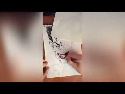 drawing-timelapse-|-the-joker