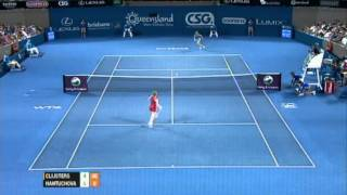 K. Clijsters v D. Hantuchova Highlights Women's Singles Semi Final: Brisbane International 2012