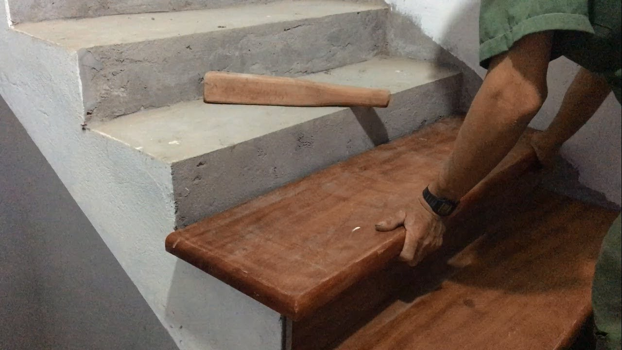 Amazing Technique Hardwood Processing For Stairs   Build And Installation  New Stairs Treads