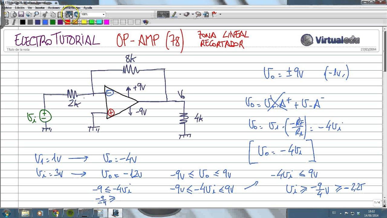Circuito Recortador : Electrotutorial op amp recortador youtube