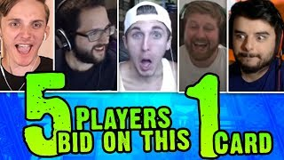 ALL 5 PLAYERS BID ON THIS 1 CARD!? | Cutthroat Pokemon X and Y 5-Player Nuzlocke Versus | #13