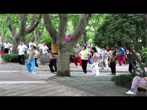 Qigong in the Park 2011 китайский цигун в парке Шанхая 2011