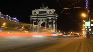 Night Traffic in Moscow, timelapse (Moscow never sleeps) by Александр Тарасенков