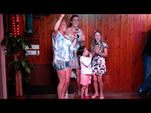 Funny Kirby Girls -  Uptown funk karaoke -  Ibiza 2015