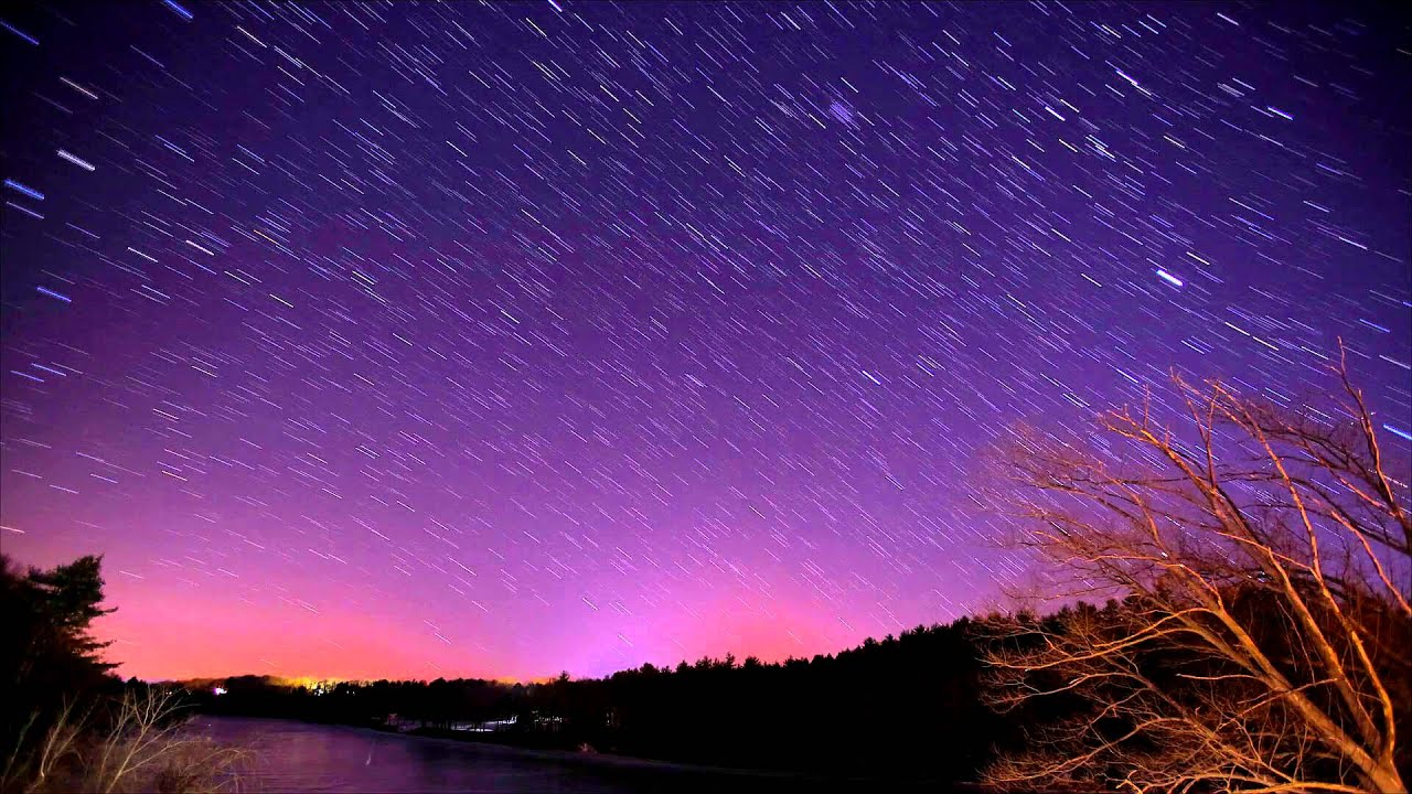 Winter Night Sky Over Connecticut River In Vermont 03 22