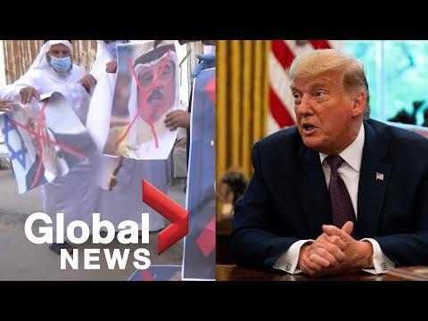 Trump, Netanyahu Praise Peace Deal With Bahrain, Palestinians Reject It