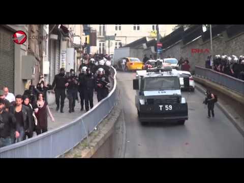 Taksimde Soma Faciasinda Hayatini Kaybedenler Destek Veren Gruba Polis Mudahalede Bulund