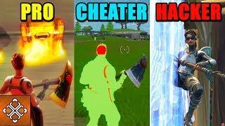PRO Vs CHEATER Vs HACKER   Fortnite Battle Royale