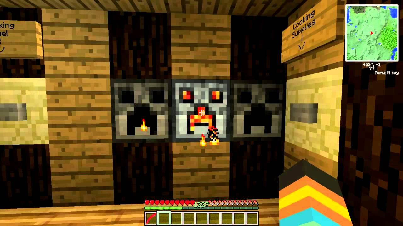 Minecraft Hidden Automatic Piston House