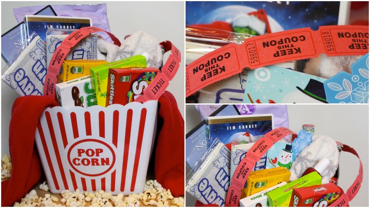 Diy Movie Night Gift Basket Youtube