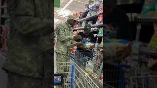 Recruiting people for army at Walmart