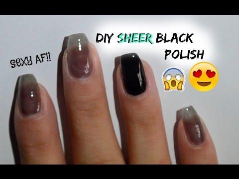 sheer black nail polish