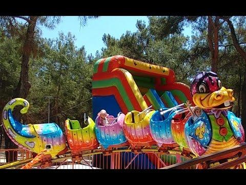 Antalya Park Orman Macera parkı Lunapark Atraksiyonlar trambolin Dev kaydırak