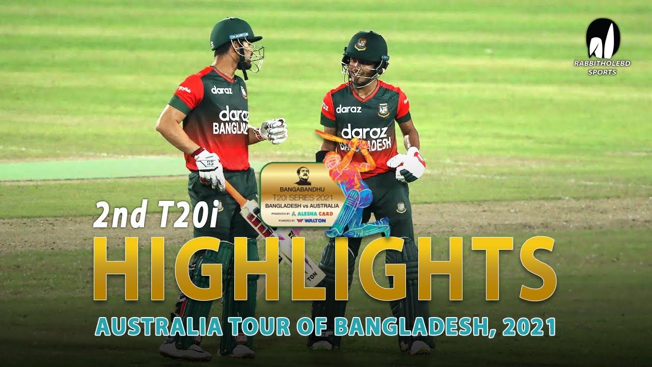 Download Bangladesh vs Australia Highlights    2nd T20i    Australia tour of Bangladesh 2021